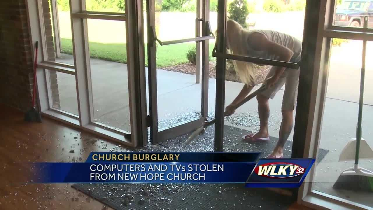 A break-in at a south Louisville church leaves one congregation cleaning up the mess.