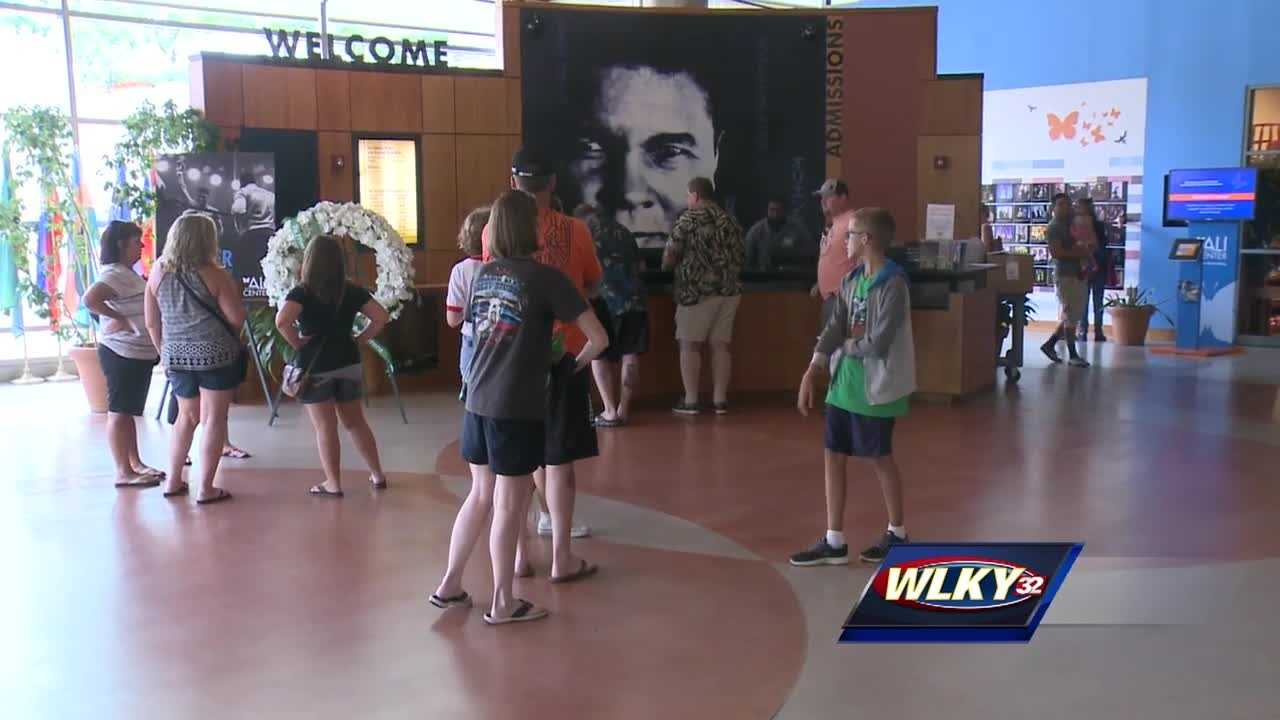 It has been a challenge for employees at the Muhammad Ali Center to keep up with the influx of visitors since Ali's death.