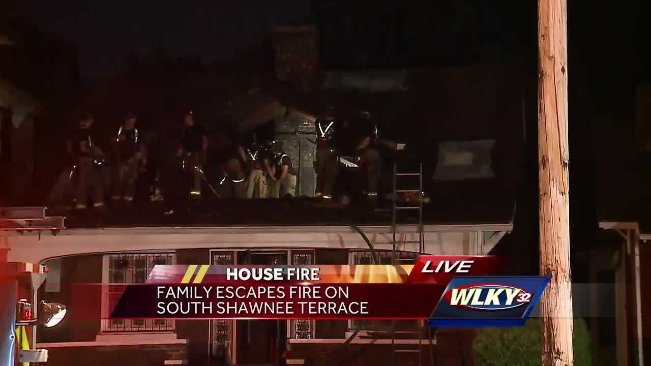 A family escaped a fire that broke out on South Shawnee Terrace.
