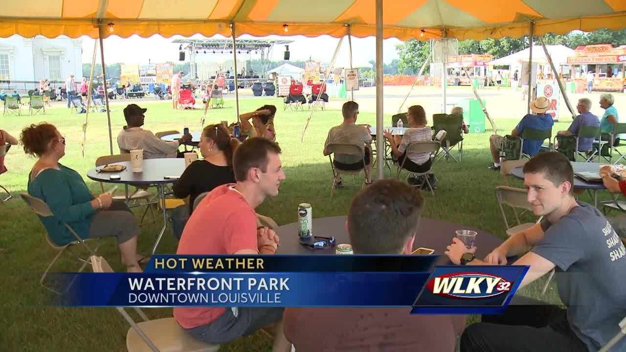 The heat is on everyone's mind at the Blues, Brews and BBQ Festival.