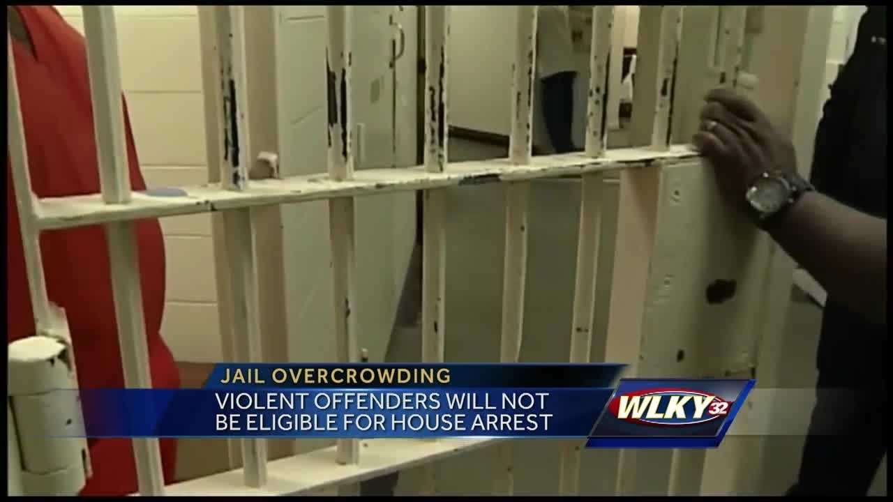 Some inmates are being moved to house arrest because of jail overcrowding.