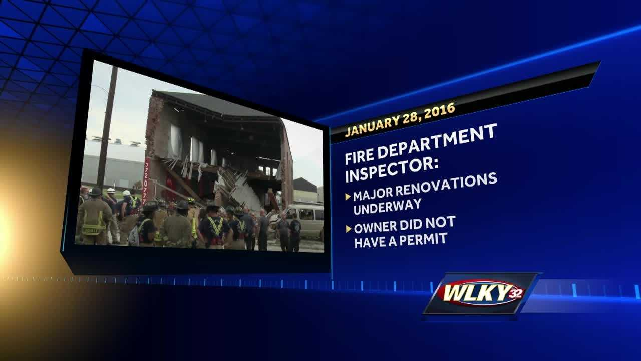 Two days before a building collapsed and crushed a man to death, the Louisville Fire Department warned the building was unstable.