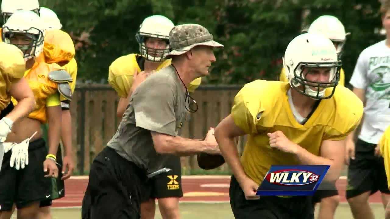 The Saint Xavier football team is working towards another district crown.