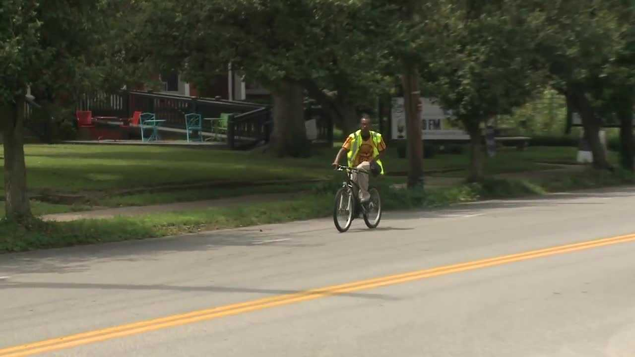 Louisville is working to be more bike friendly. But one man, who rides more than 20 miles to work each day, says the city can do better.