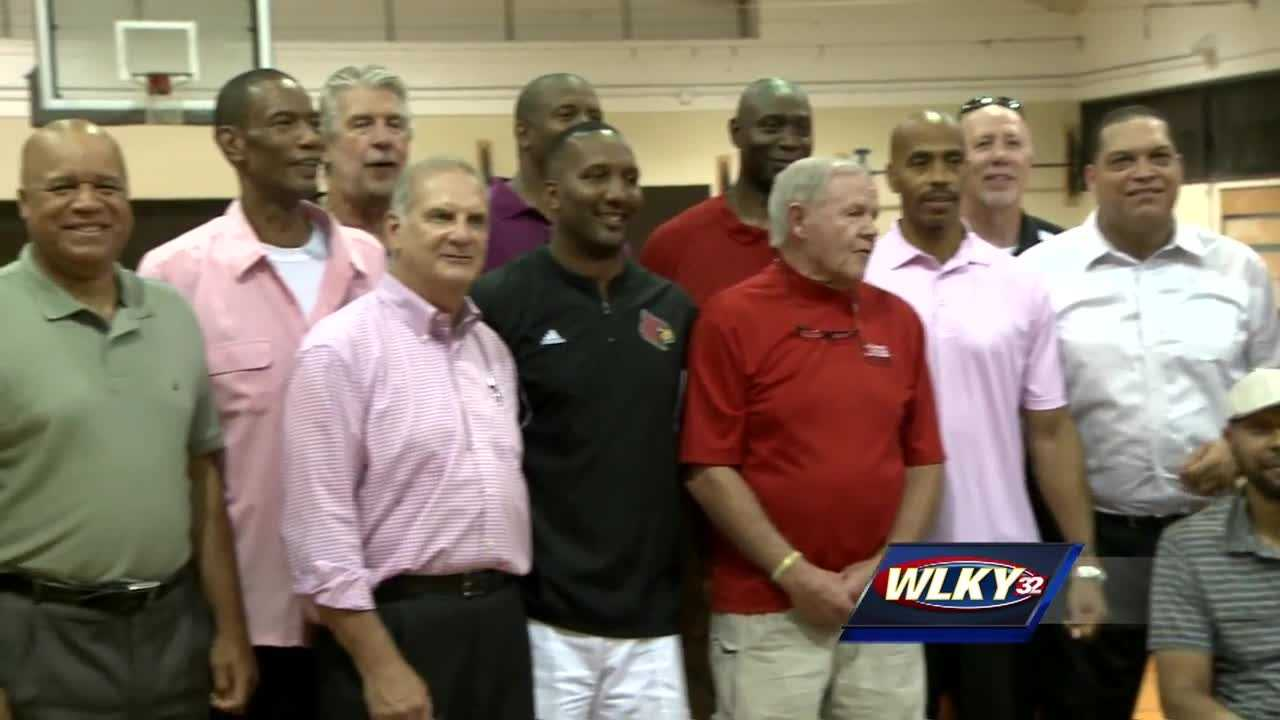 Crawford Gym on the University of Louisville campus saw its former players return for a goodbye ceremony on Thursday.