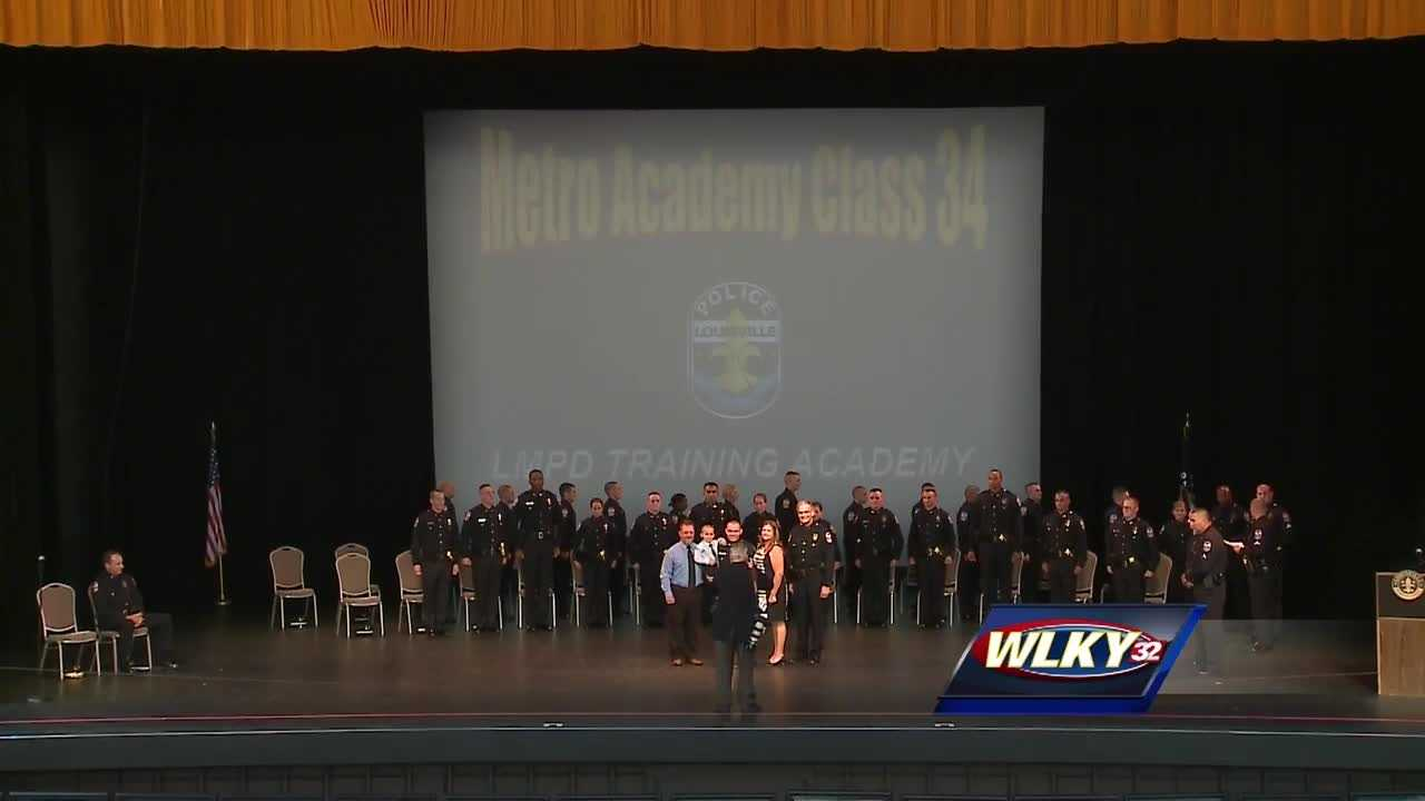 The Louisville Metro Police Department officially swore in a new group of recruits.