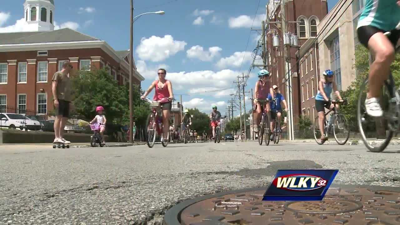 The annual Cyclouvia event was held in Shelby Park for the first time.