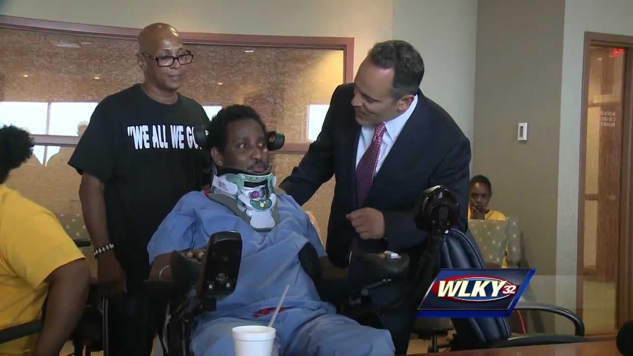 Governor Matt Bevin and Lieutenant Governor Jenean Hampton met with gunshot victims in Louisville Monday, in an ongoing effort to create solutions to end gun violence in Kentucky.