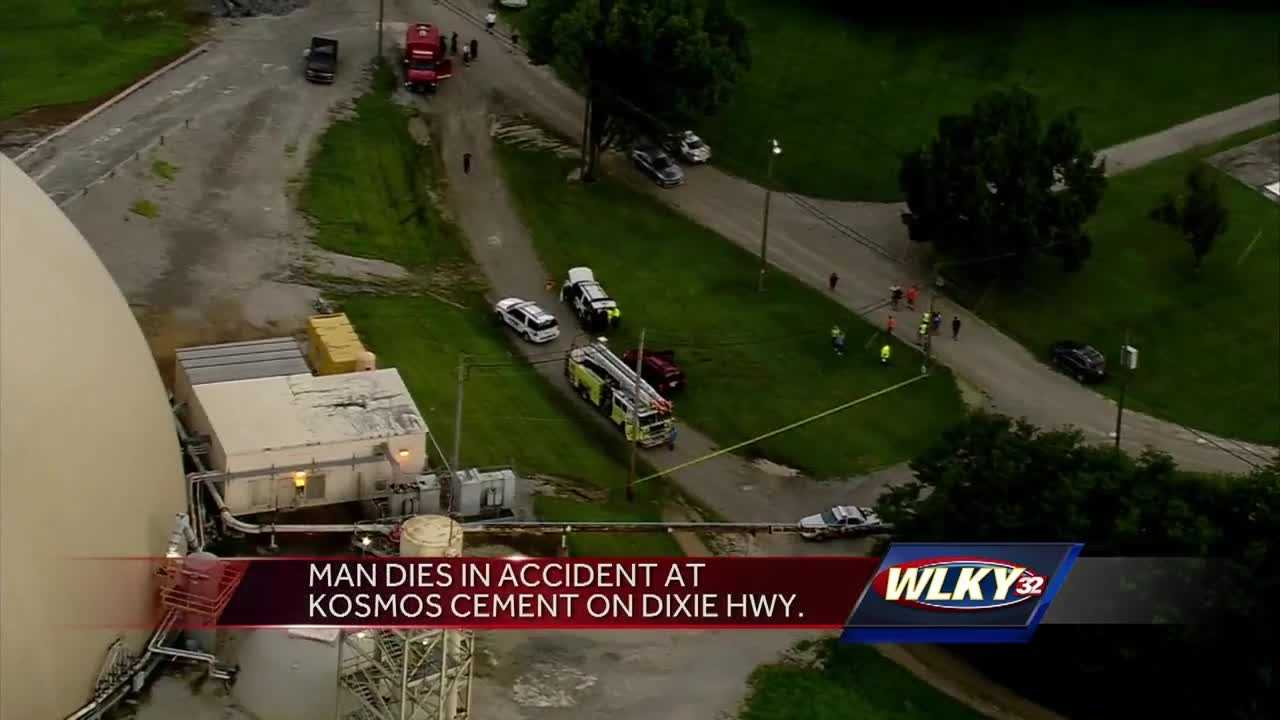 According to police, the man died as a result of a pulley system mechanical failure.