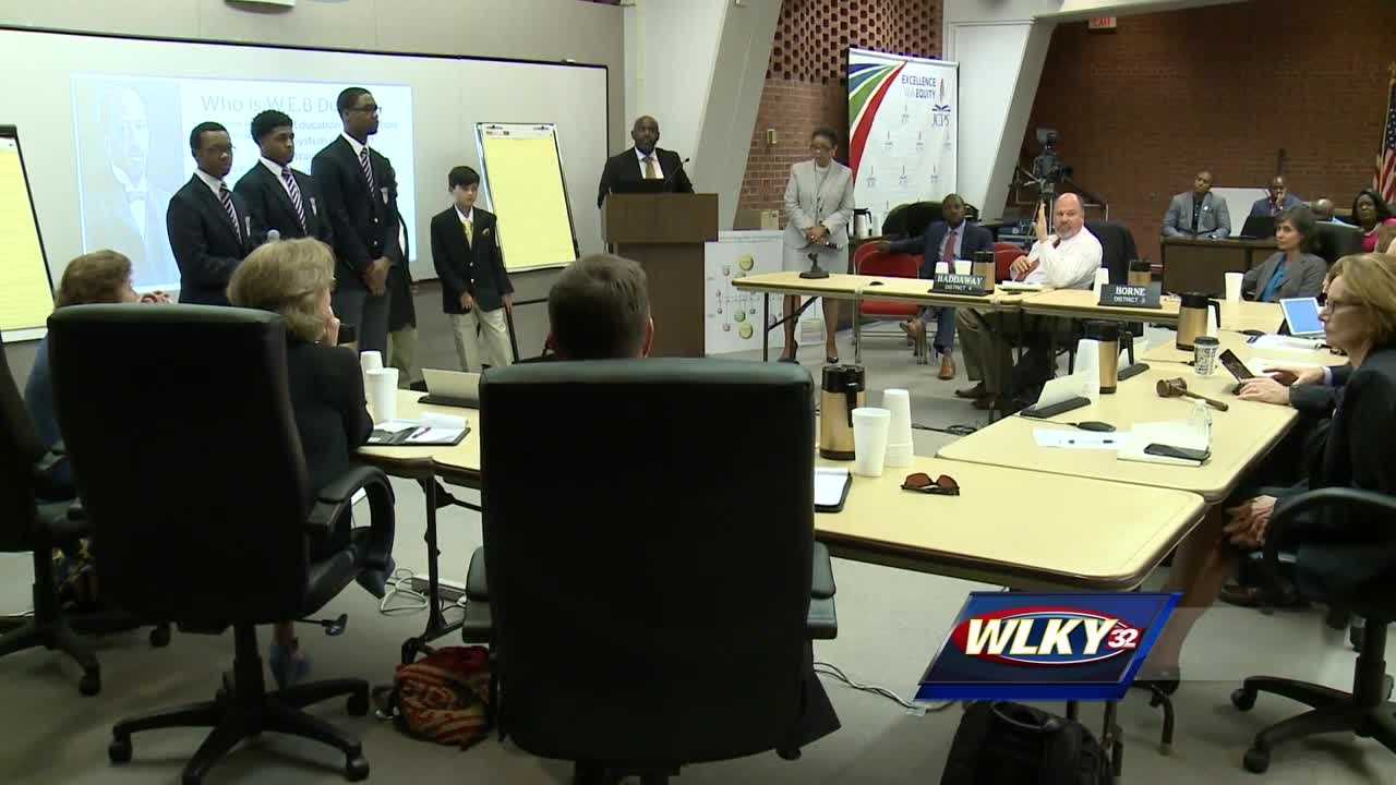 JCPS is considering creating a new academy designed mainly for young African-American men.