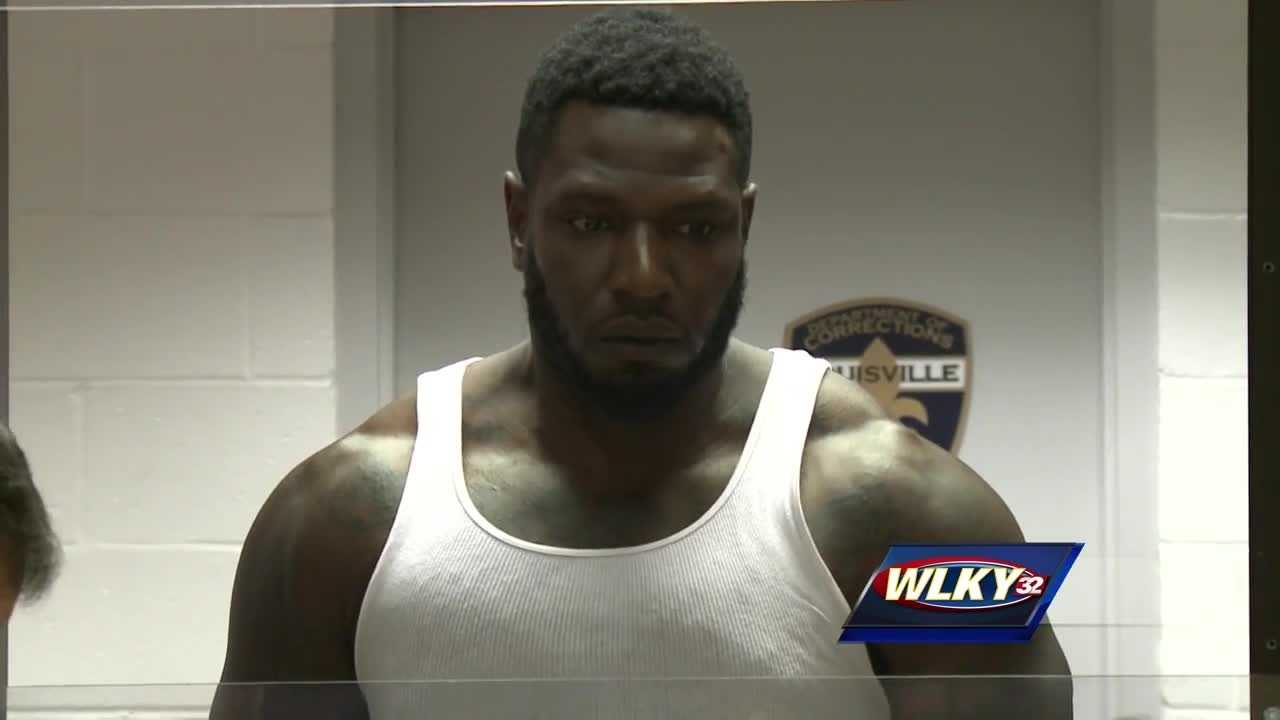 A former University of Louisville football star is in trouble with the law again.
