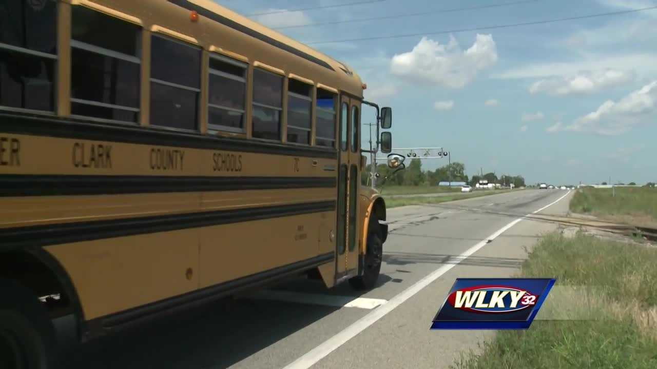 A woman died Friday morning after crashing into a southern Indiana school bus.