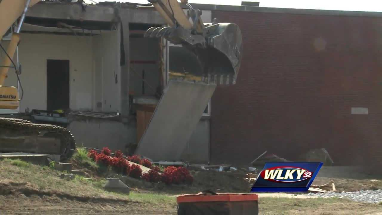 The iconic Crawford gym at the University of Louisville is being torn down.