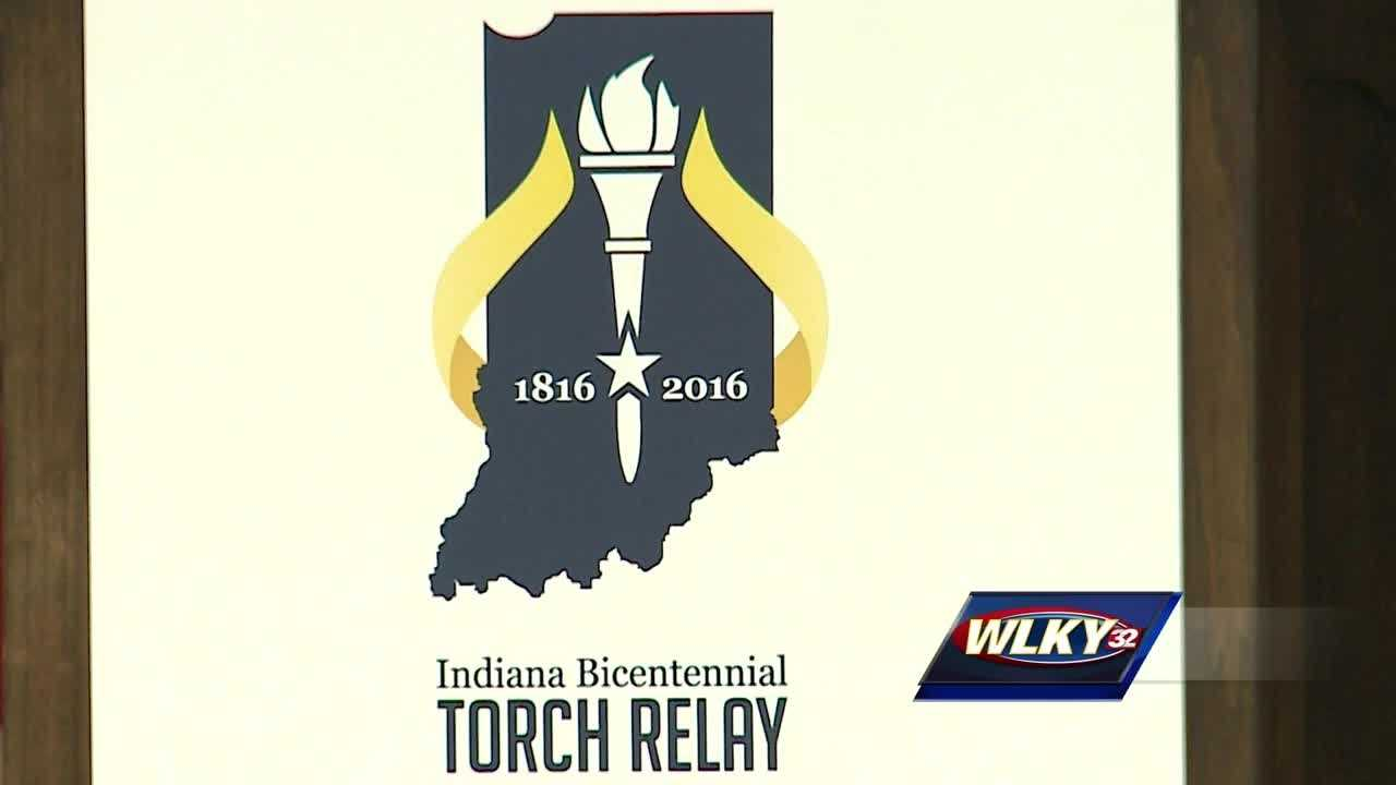 In celebration of Indiana's 200th birthday, a torch was lit Friday that will travel 3,200 miles across the state.