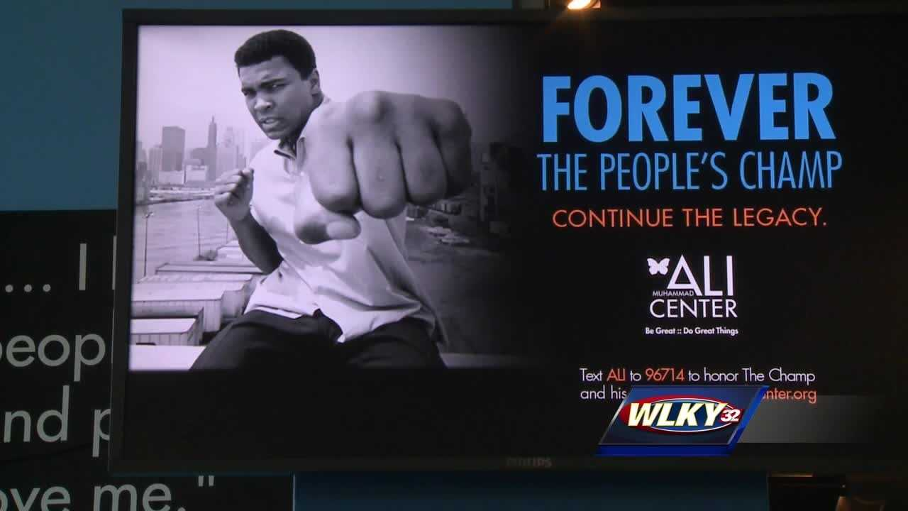 Two new exhibits in 1,600 square feet of space are coming with the Ali center.