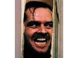 """13. """"The Shining"""": A psychic son, and isolated hotel, and 'Heeeeeeeere's Johnny!' is enough to scare the pants off you."""