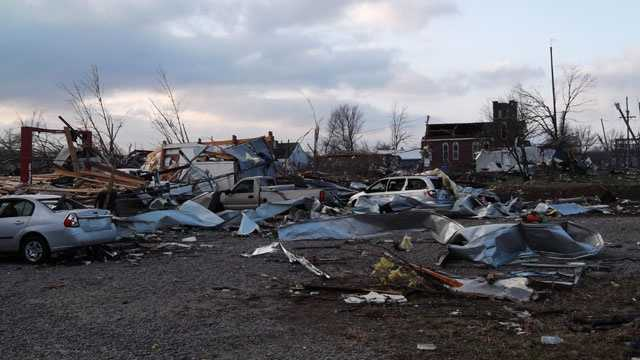 Henryville storm damage