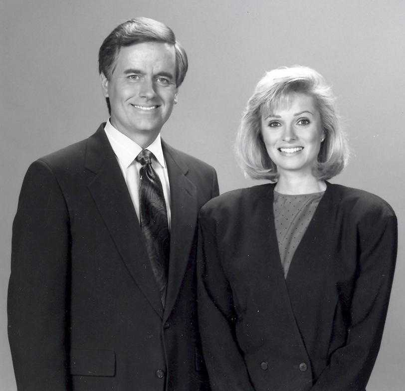 Anchor team Bruce Dunbar and Vicki Dortch