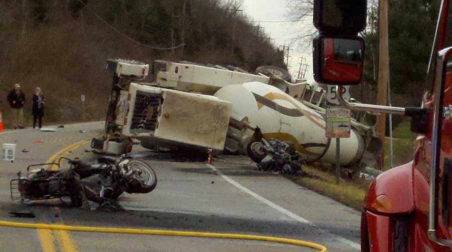Images: Truck, Motorcycles Collide