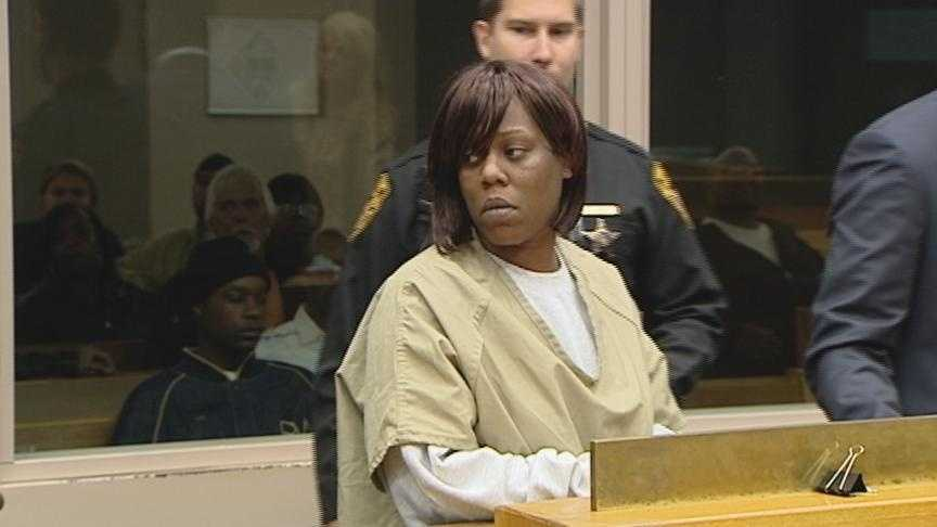 Dawn McFadden in court shortly after her arrest