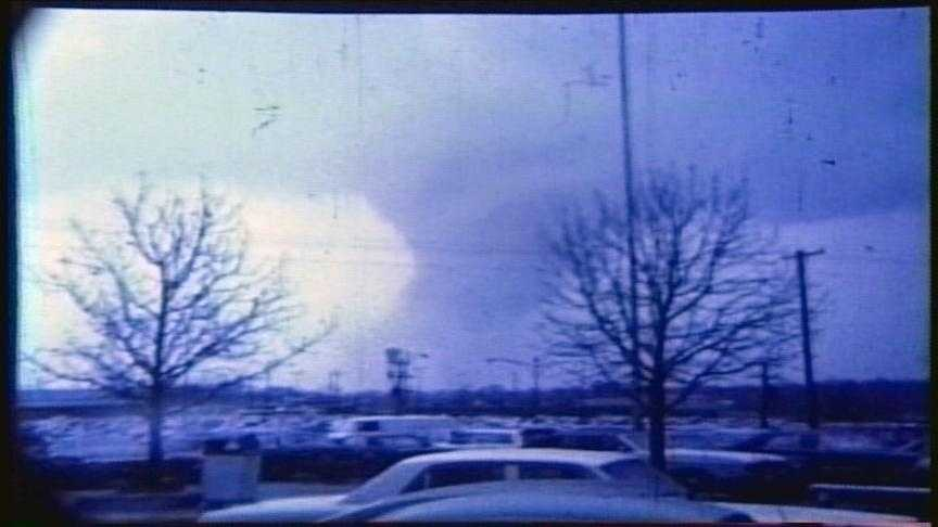 An F-5 tornado moves into western Hamilton County on April 3, 1974