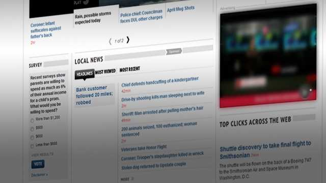 As you scroll down the home page, you'll find the new local tabs on the homepage and get right to the news from where you live. Keep in touch with news breaking in your neighborhood all day, every day.