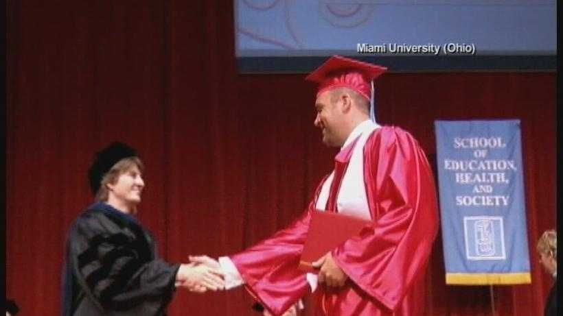 Steelers QB Ben Roethlisberger's graduation in 2012