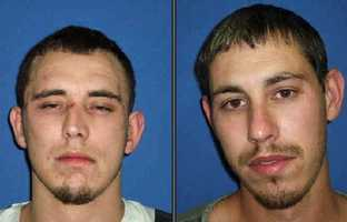 Timothy and Nathan Gray, accused of attacking firefighters putting out a fire on a farm.