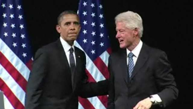 Clinton with Obama