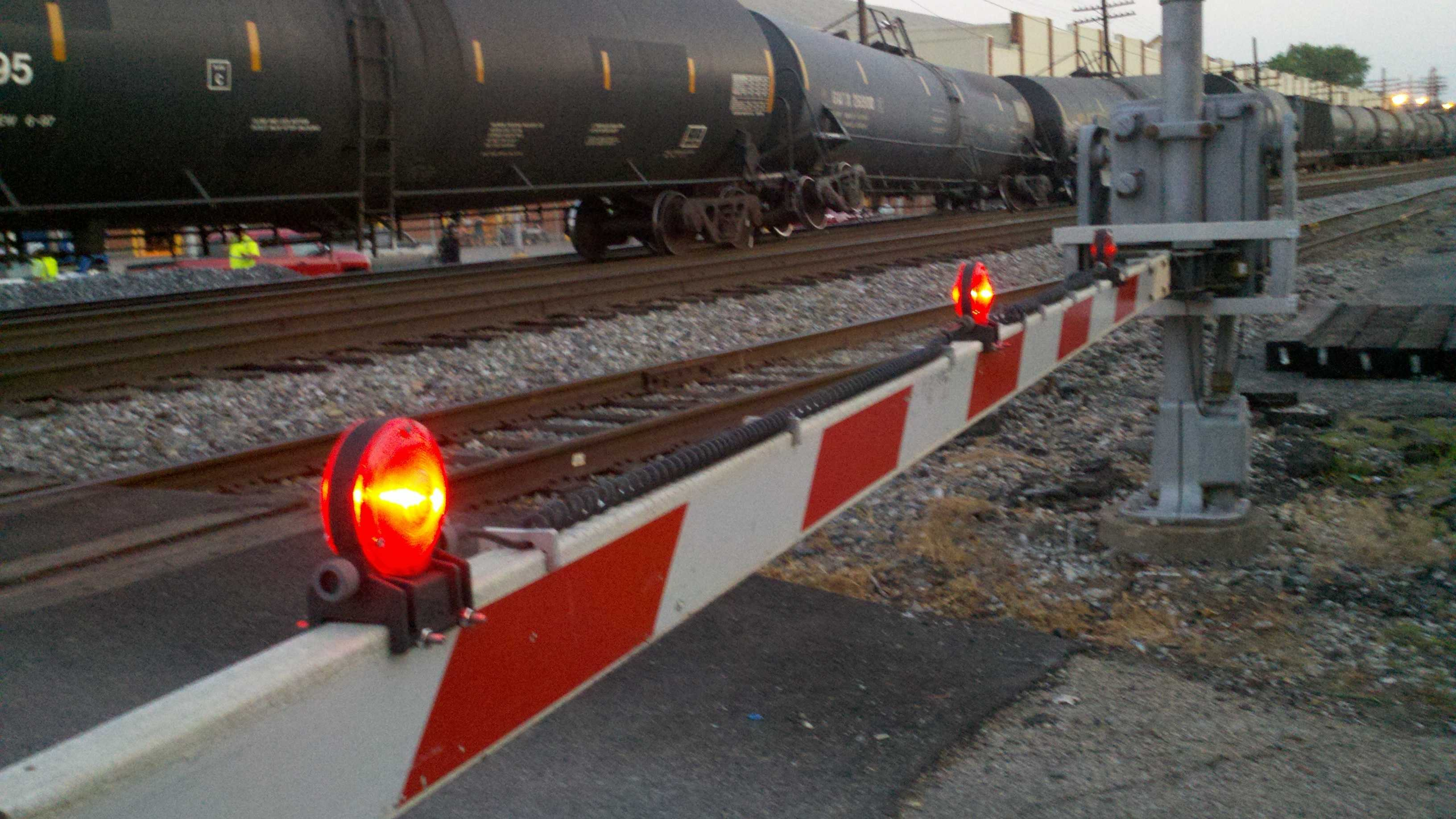 A train that jumped its tracks in Elmwood Place on Wednesday evening caused traffic back-ups for several hours.
