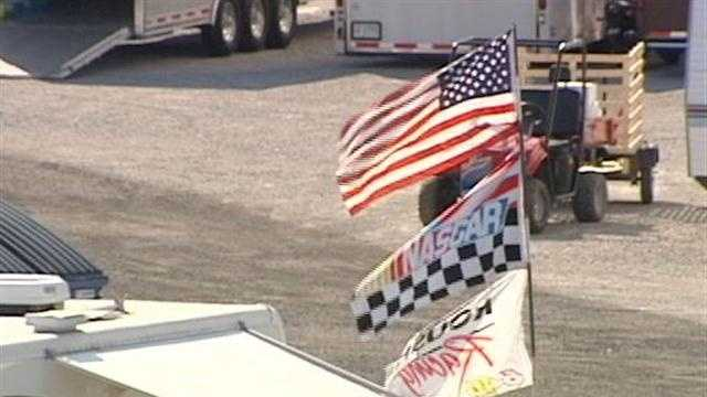 The first campers arrived Tuesday for a weekend of races at Kentucky Speedway.