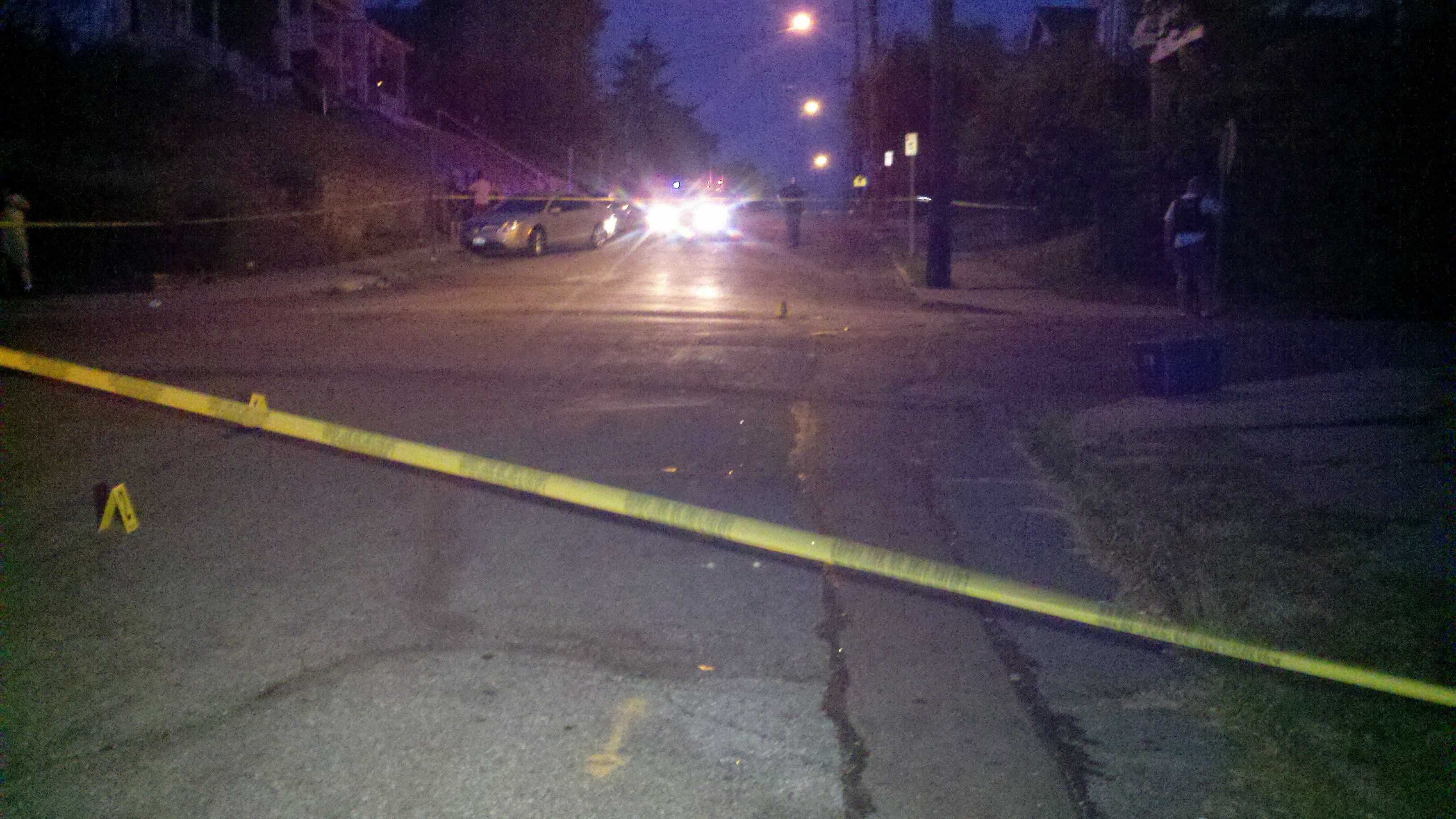 Police are searching for two vehicles involved in a shootout in West Price Hill, during which a 13-year-old girl was struck.