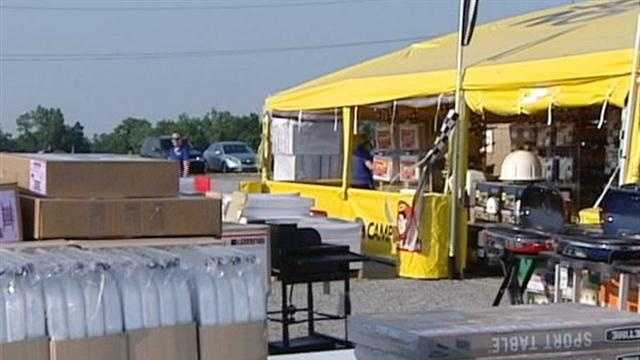 For people selling merchandise at the Kentucky Speedway, memories are still a little long.