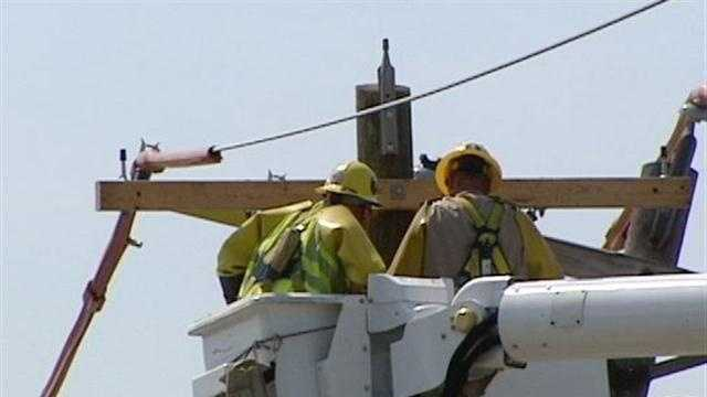 The heat is on and so are efforts to get the power restored in the Tri-State.
