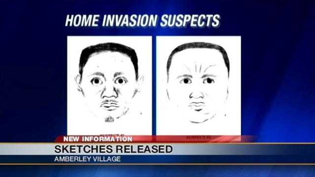 Police have released sketches of two men accused of roughing up an elderly couple in their Amberley Village home.