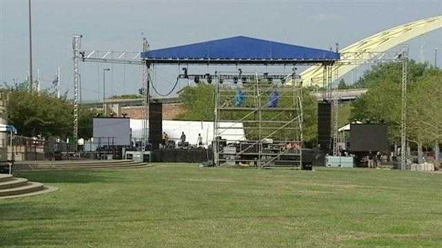 Crews prepare for Bunbury Music Festival