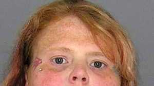 Summer Wallzs, accused of beating her son with a skillet. More info here.