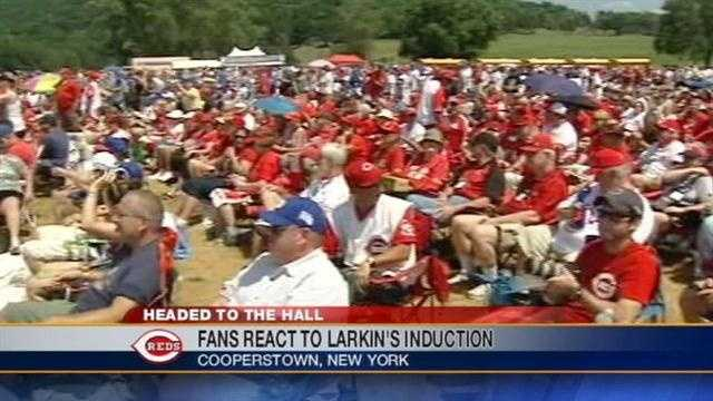 Reds fans flood Cooperstown for Larkin Hall of Fame induction