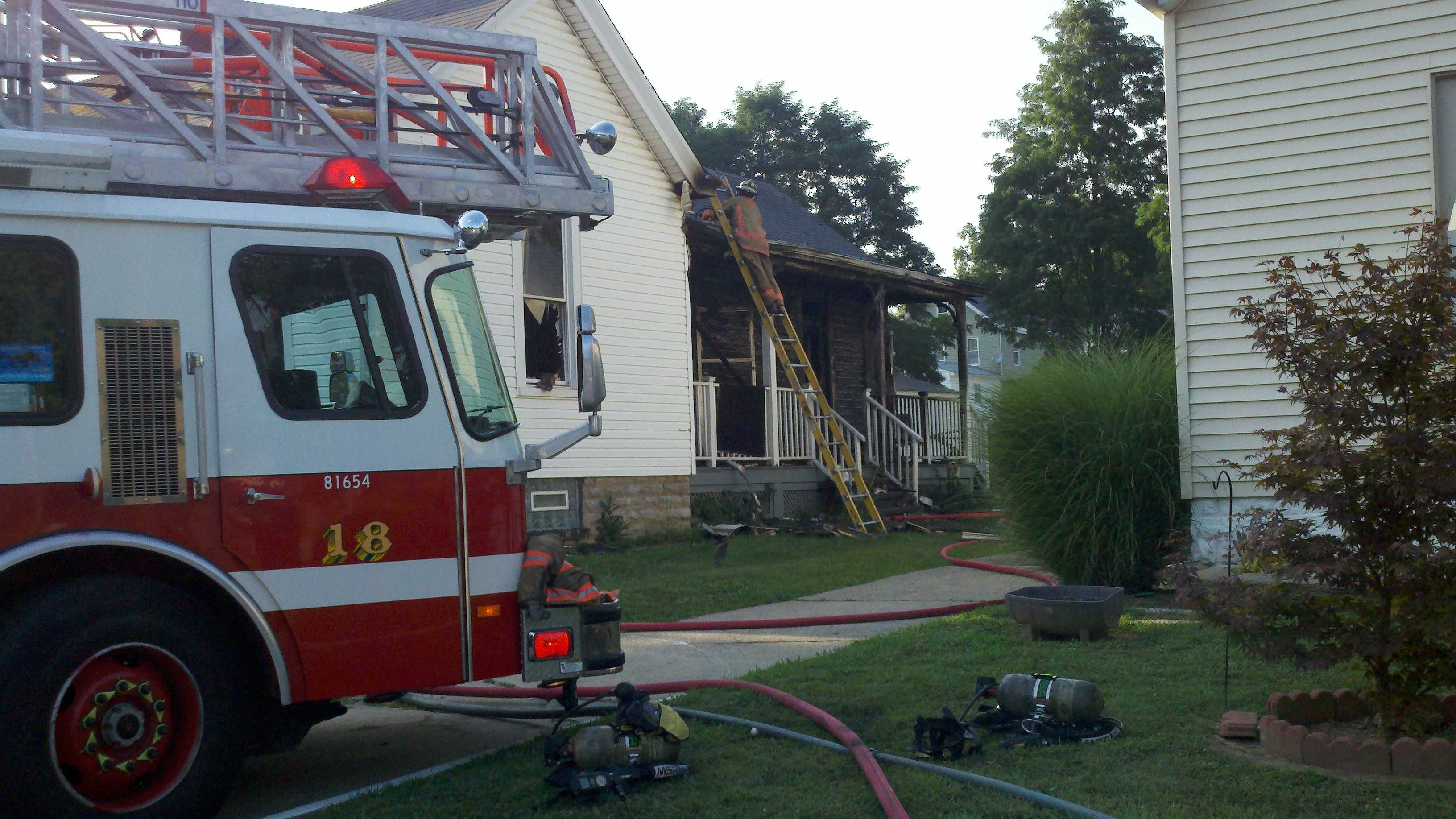 Fire crews say an unattended kitchen fire is to blame for a 2-alarm fire in Madisonville Monday evening.