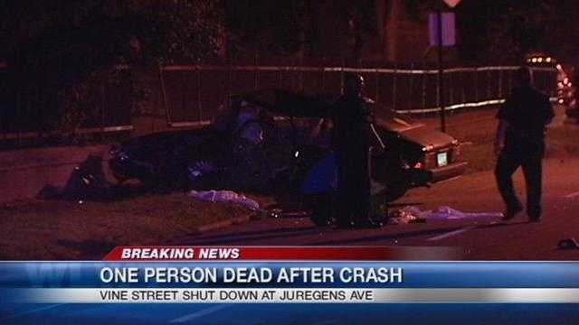 One person has died after an early Sunday morning crash. News Five's Adam Clements has more on the investigation.