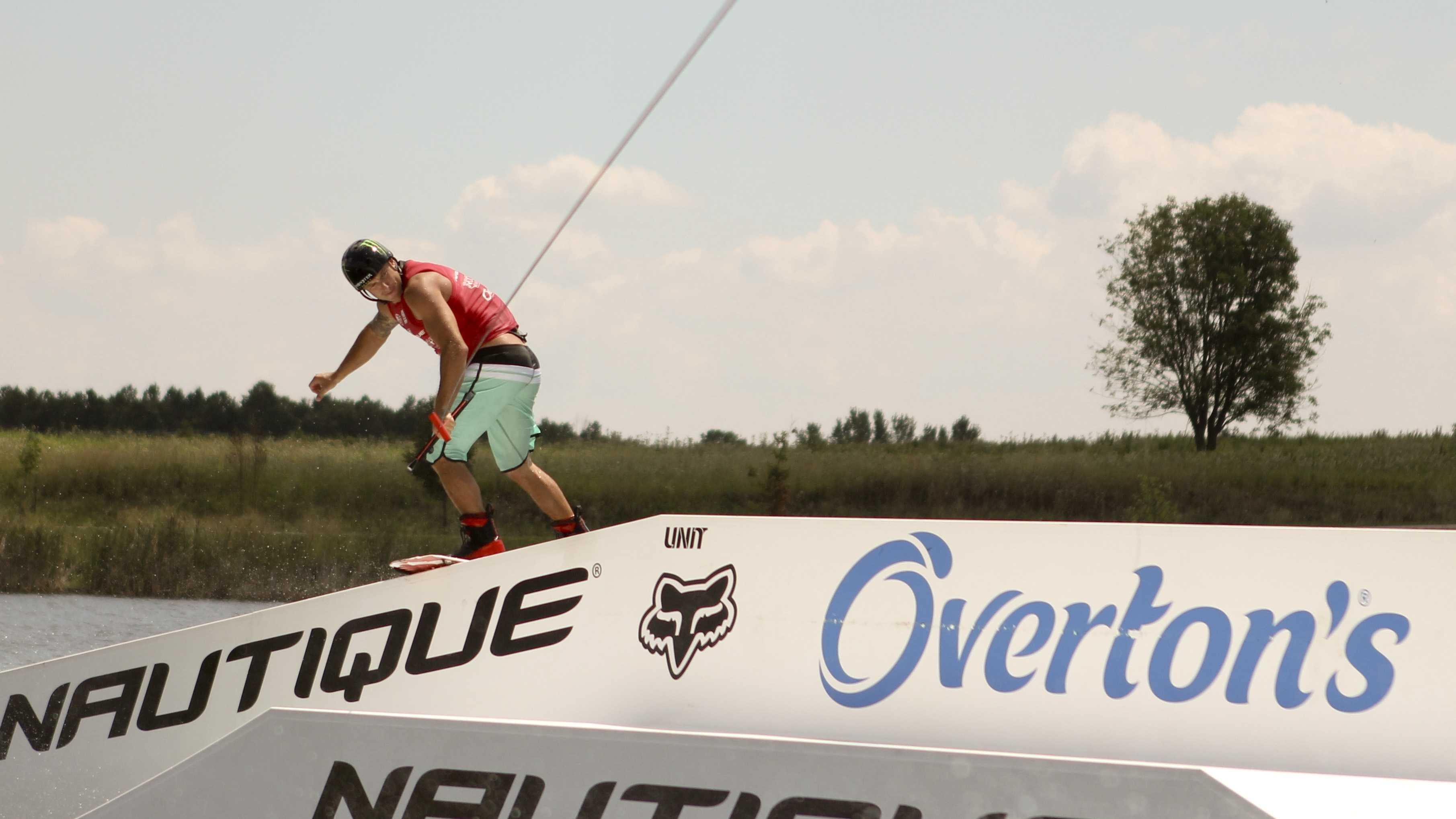 Shawn Watson of Orlando competed in the men's professional class at the World Wakeboarding Association National Championships in West Chester last weekend.Photo by Jim Ryan / WLWT.com