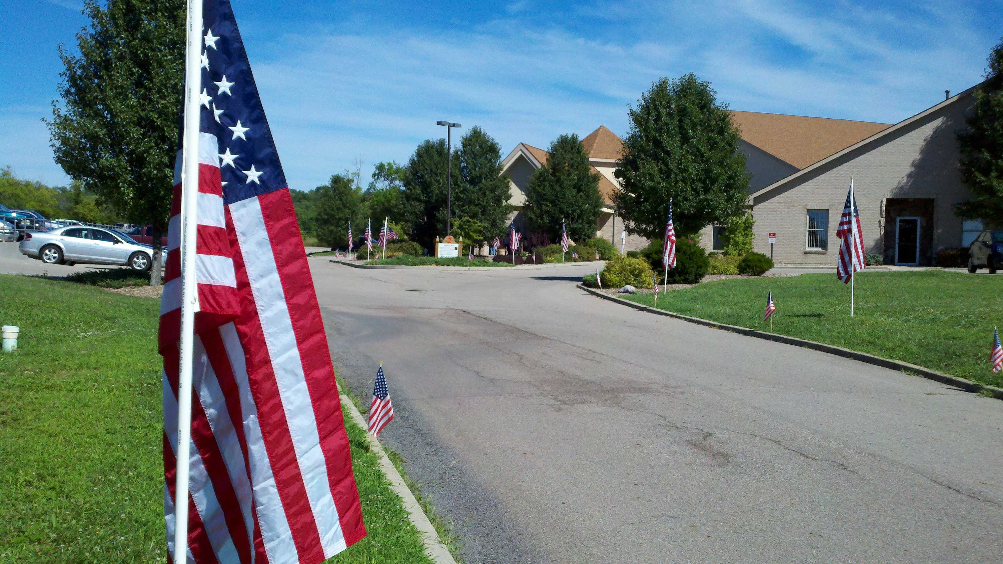 Friends and family prepare Monday night to lay to rest a soldier from Warren County, killed in action.