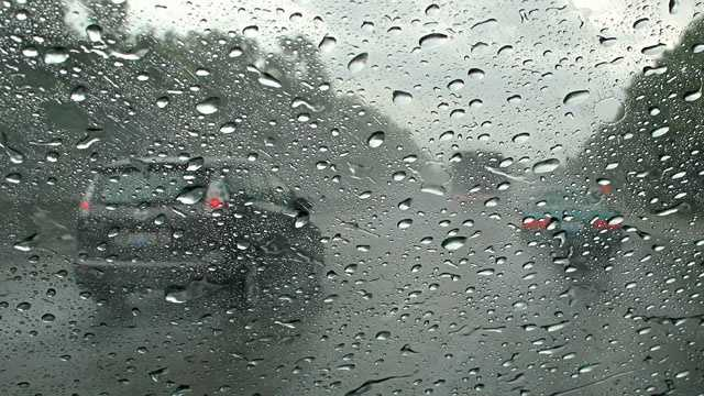 Generic rain wet traffic storm