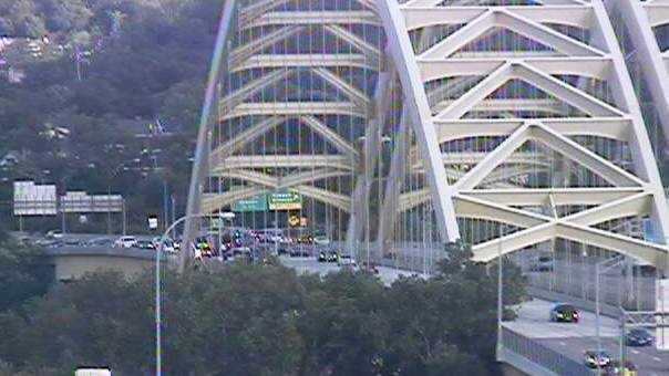 crash snarls traffic on big mac bridge