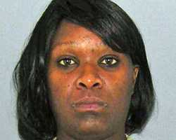 Melody Thompson, accused of stabbing a woman in the arm with a pitchfork. More info here.