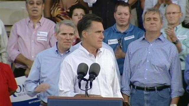 Republican presidential candidate Mitt Romney spent Tuesday in Ohio.