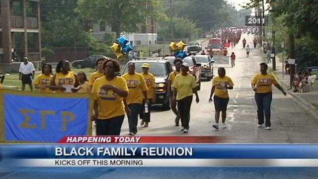 This is the 24th year for the reunion celebration which attracts thousands of people to the Queen City.
