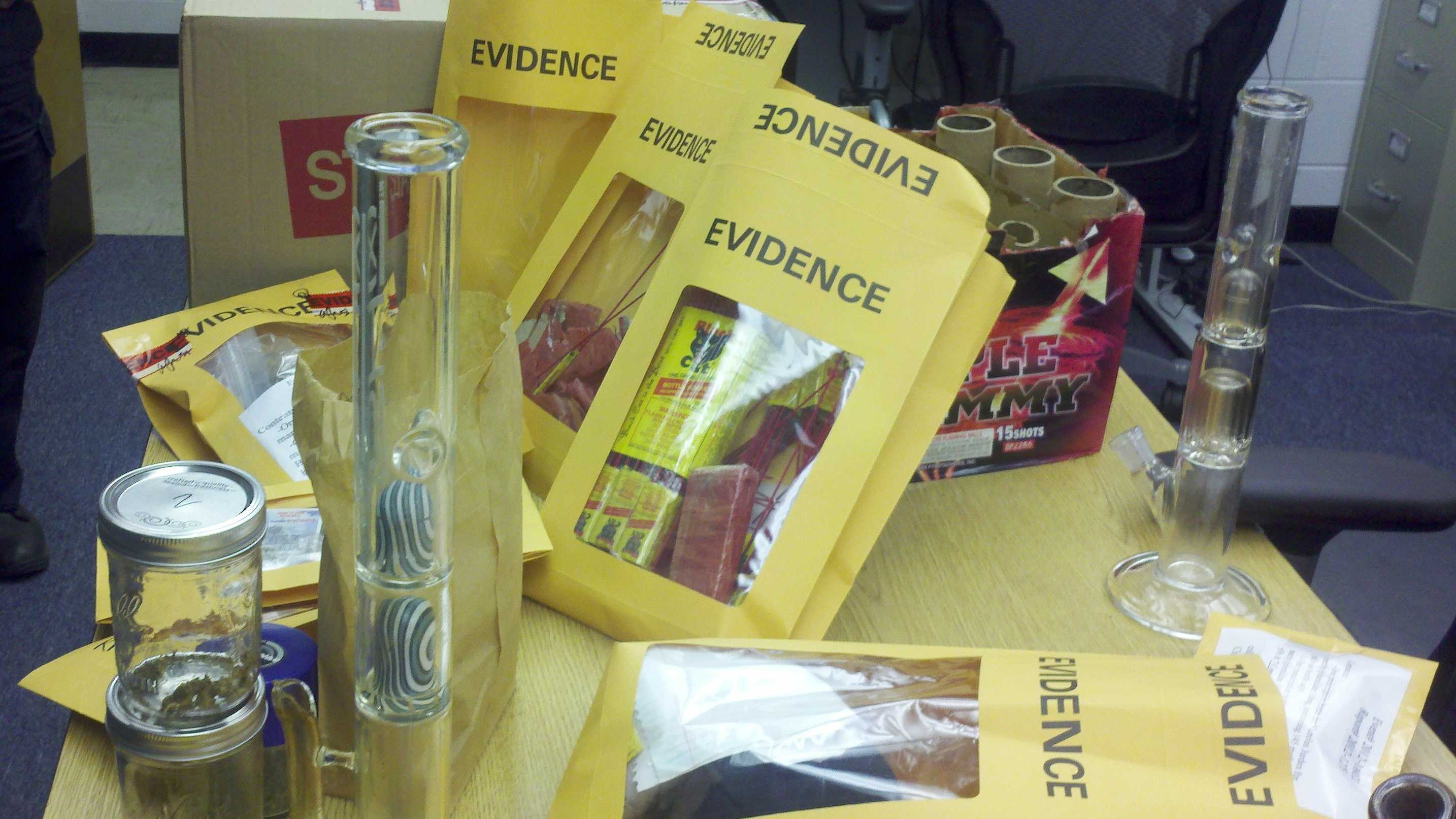 Images: Fireworks, drugs found in Miami frat houses.