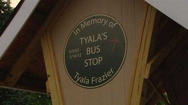 A bus stop has a new name and location after a girl died trying to catch a bus last year.