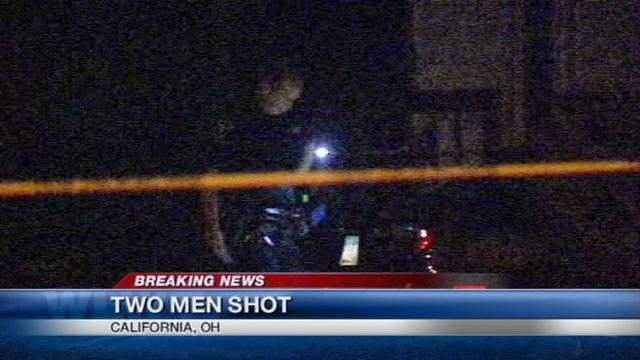 Two men were host and injured in a shooting in the California neighborhood on Thursday night.